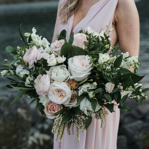 Blush White Lake River Flowers Wedding Florist Bridal Bouquet