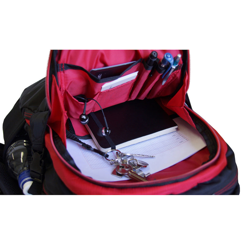 Wolffepack Escape, Award-Winning Backpack, 18L Black and Red