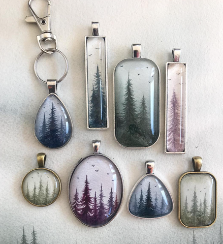Danielle Lanslots - Watercolor Pendants