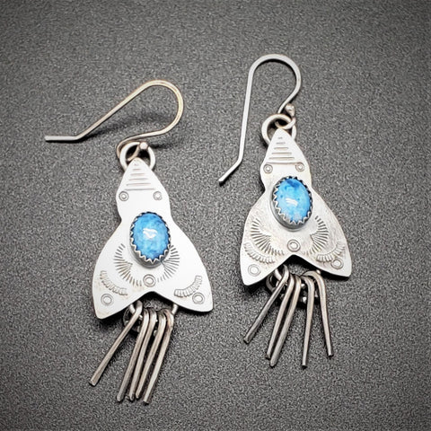 Hand-stamped Turquoise Earrings