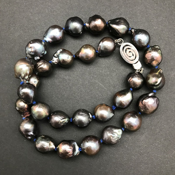 Necklace, Midnight Baroque Pearls