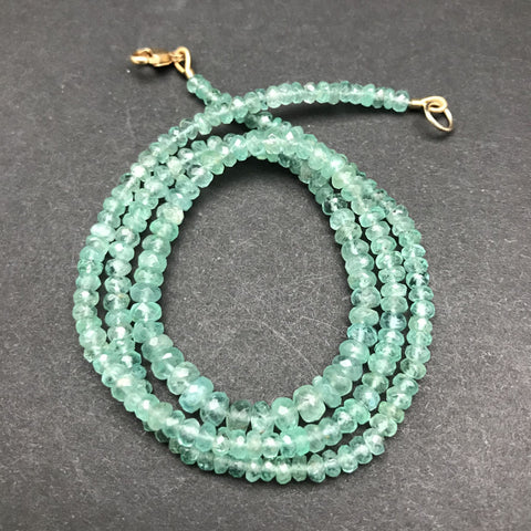 Necklace, Pastel Emerald Rondelles, Graduated