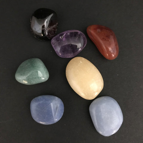 Chakra Pebbles Pocket Stone Set