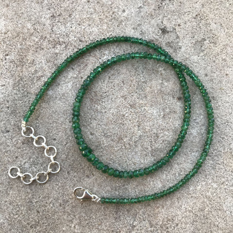 Necklace, Emerald Rondelles, Graduated