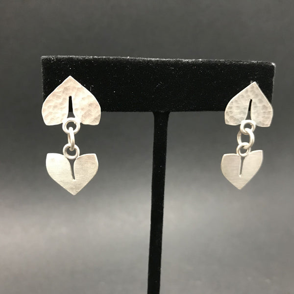 Earrings, Linked Double Petals