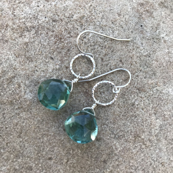 Earrings, Quartz Briolettes