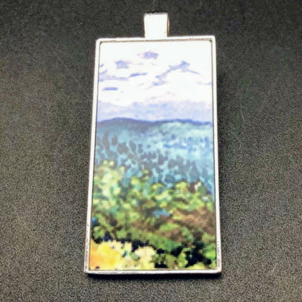 Mountain Meadow Rectangle Pendant