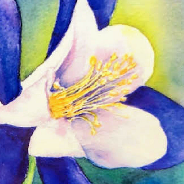 Watercolor Flower Tile