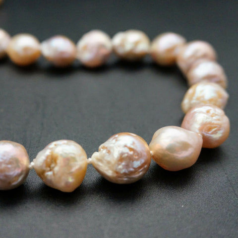 Pink Pearl Necklace - 18 1/2 inches