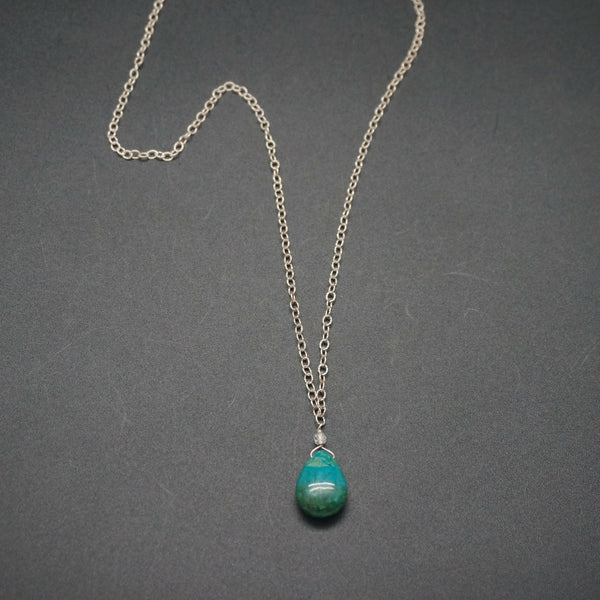Chrysocolla Pendant - 22 Inches