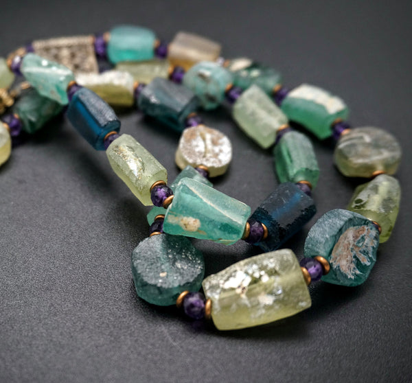 Roman Era Glass Necklace