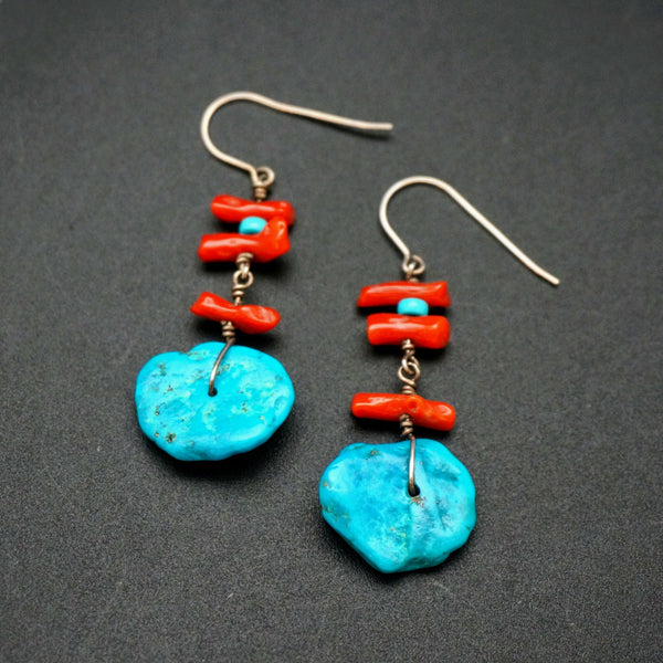 Sleeping Beauty Turquoise Drop Earrings