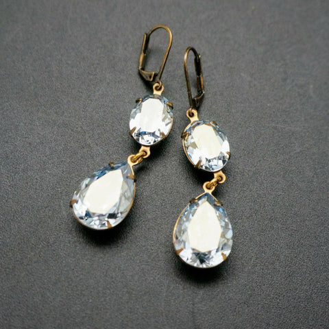Swarovski Crystal Double Drop Earring
