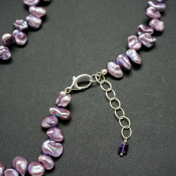 Rosebud Pearl Necklace