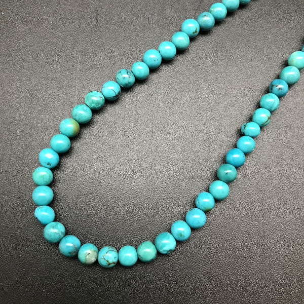 Necklace, Turquoise with Sterling