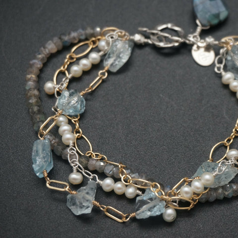 Delicate Beaded Chain Bracelet