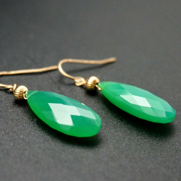 Chrysoprase Drop Earrings