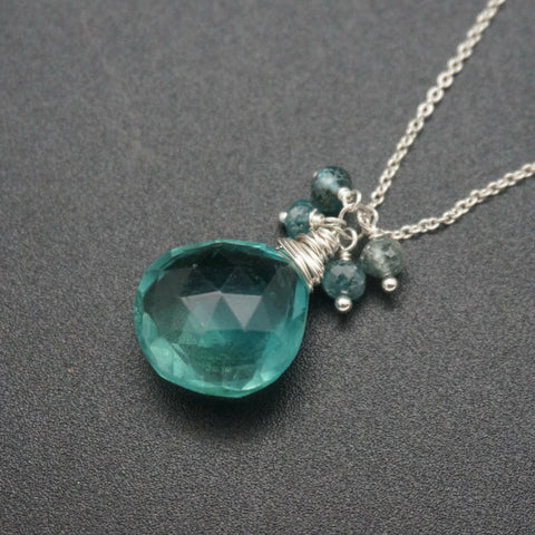 Fluorite Drop Pendant - 18 Inches