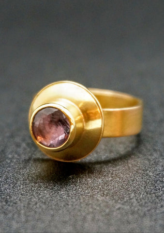 Lavendar Zircon Gold Ring