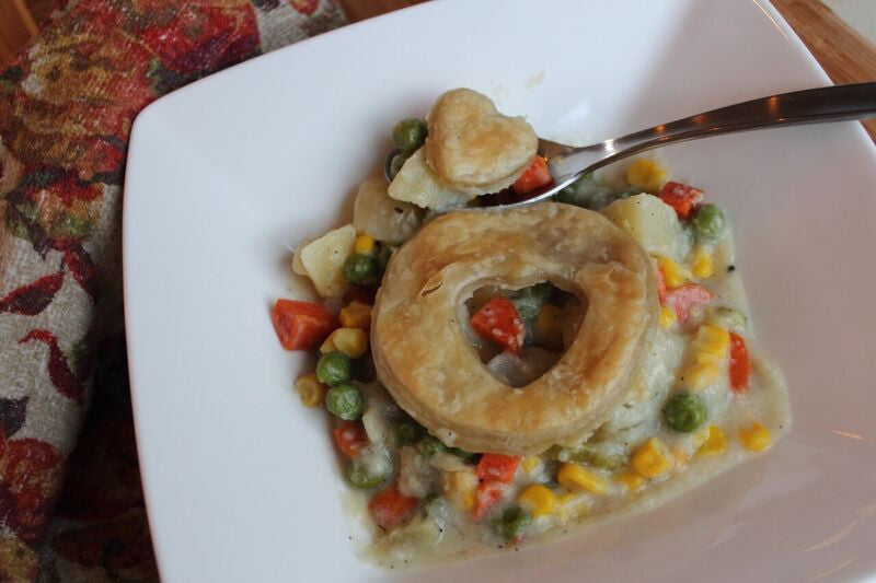 Chicken Pot Pie Family Style
