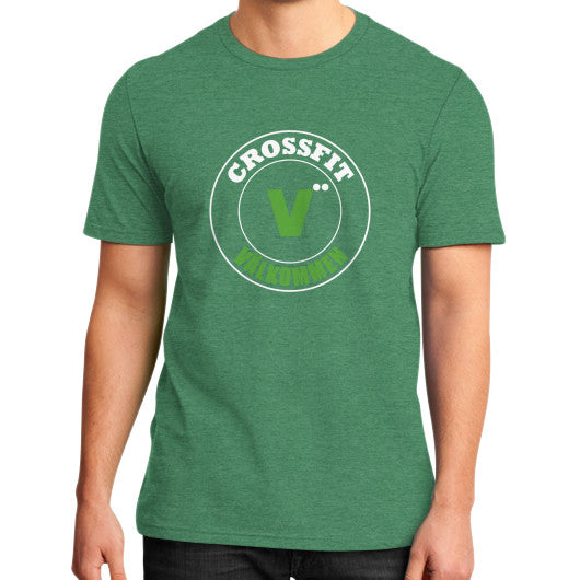 District T-Shirt (on man) Heather green Crossfit Valkommen Store