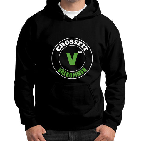 Gildan Hoodie (on man) Black Crossfit Valkommen Store