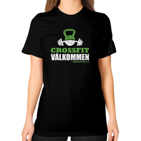 Unisex T-Shirt (on woman) Black Crossfit Valkommen Store