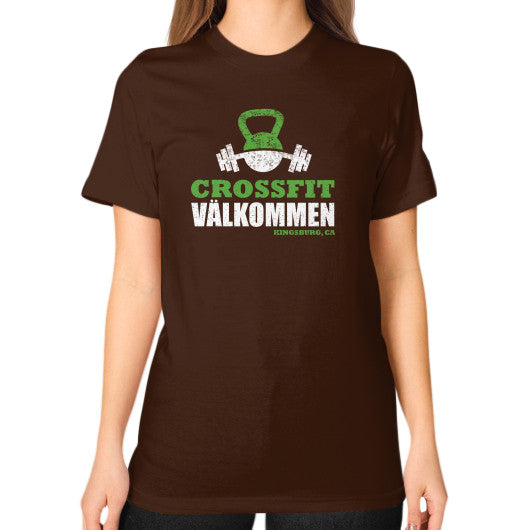 Unisex T-Shirt (on woman) Brown Crossfit Valkommen Store
