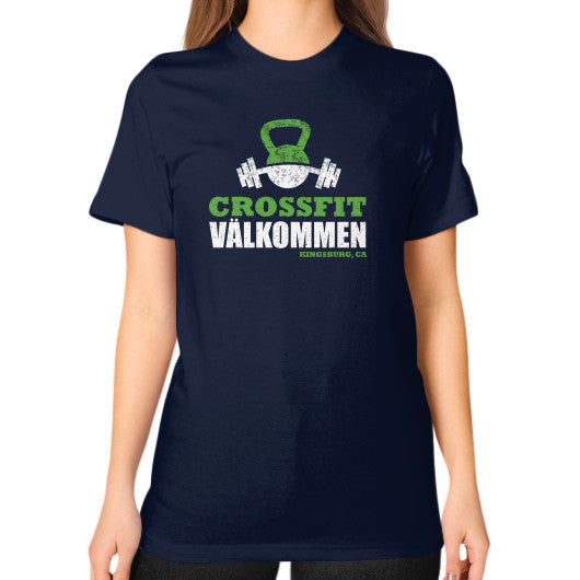 Unisex T-Shirt (on woman) Navy Crossfit Valkommen Store