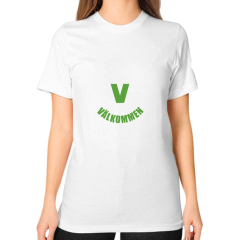 Unisex T-Shirt (on woman) White Crossfit Valkommen Store