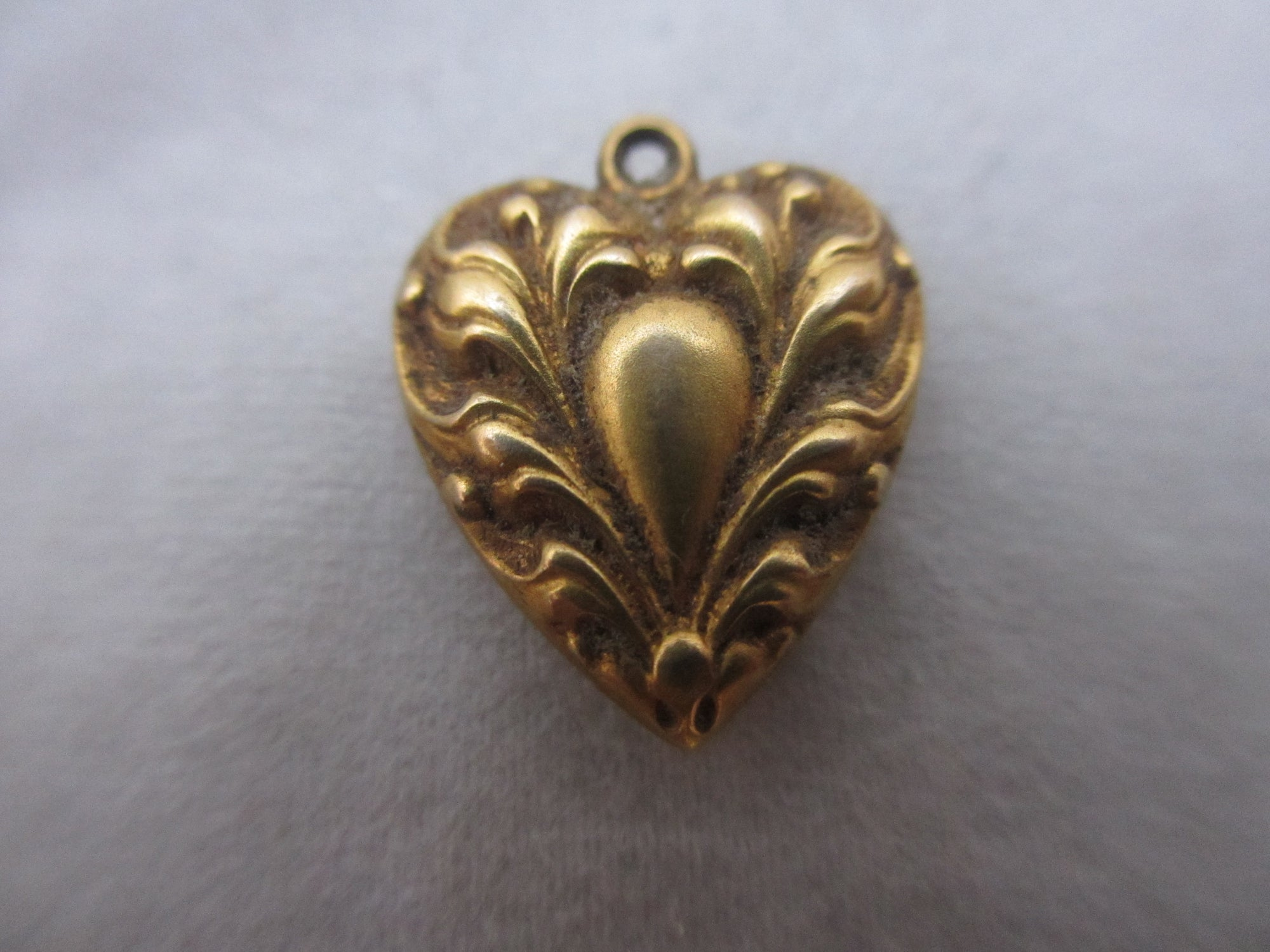 Gold heart For Valentine's Day.