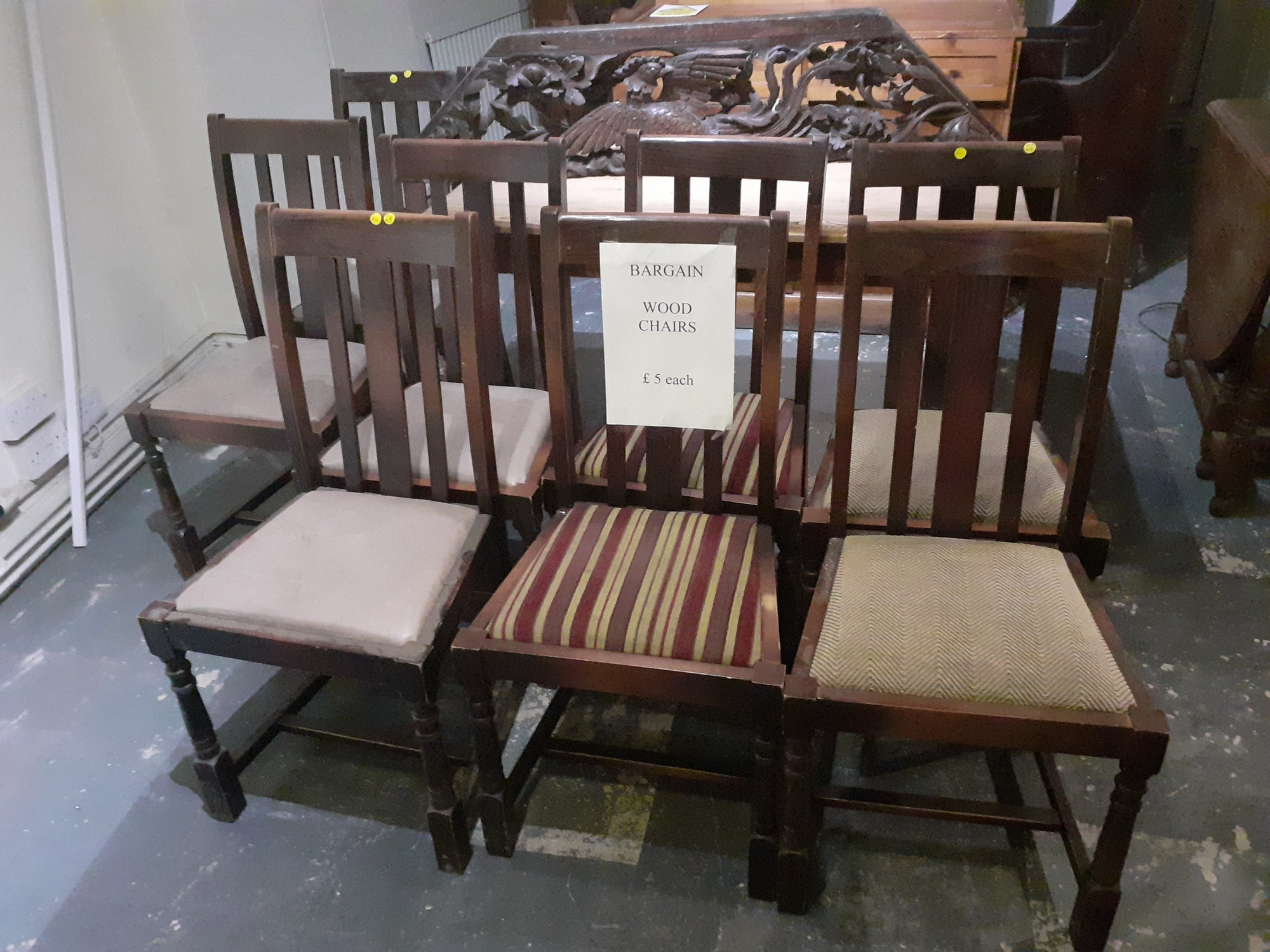 last few days of give away chairs £5 & £10 to make space for new dealer