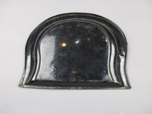 Handpainted And Enameled Toleware Dust Pan Antique Victorian C1900.