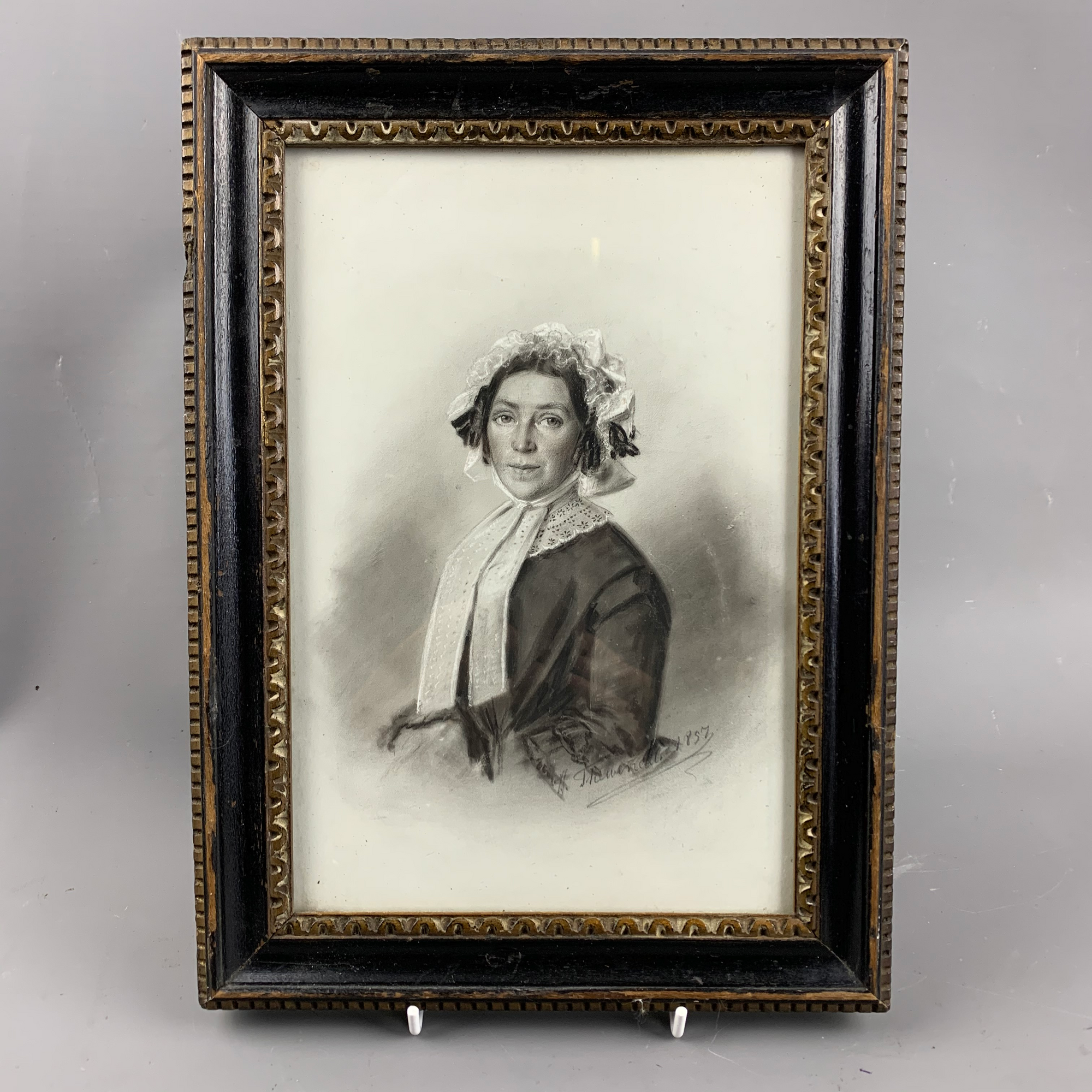 Antique Pencil Portrait By Thewevetti Victorian C 1857