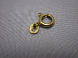 9ct Yellow Gold Bolt Ring Clasp Findings Vintage C1970