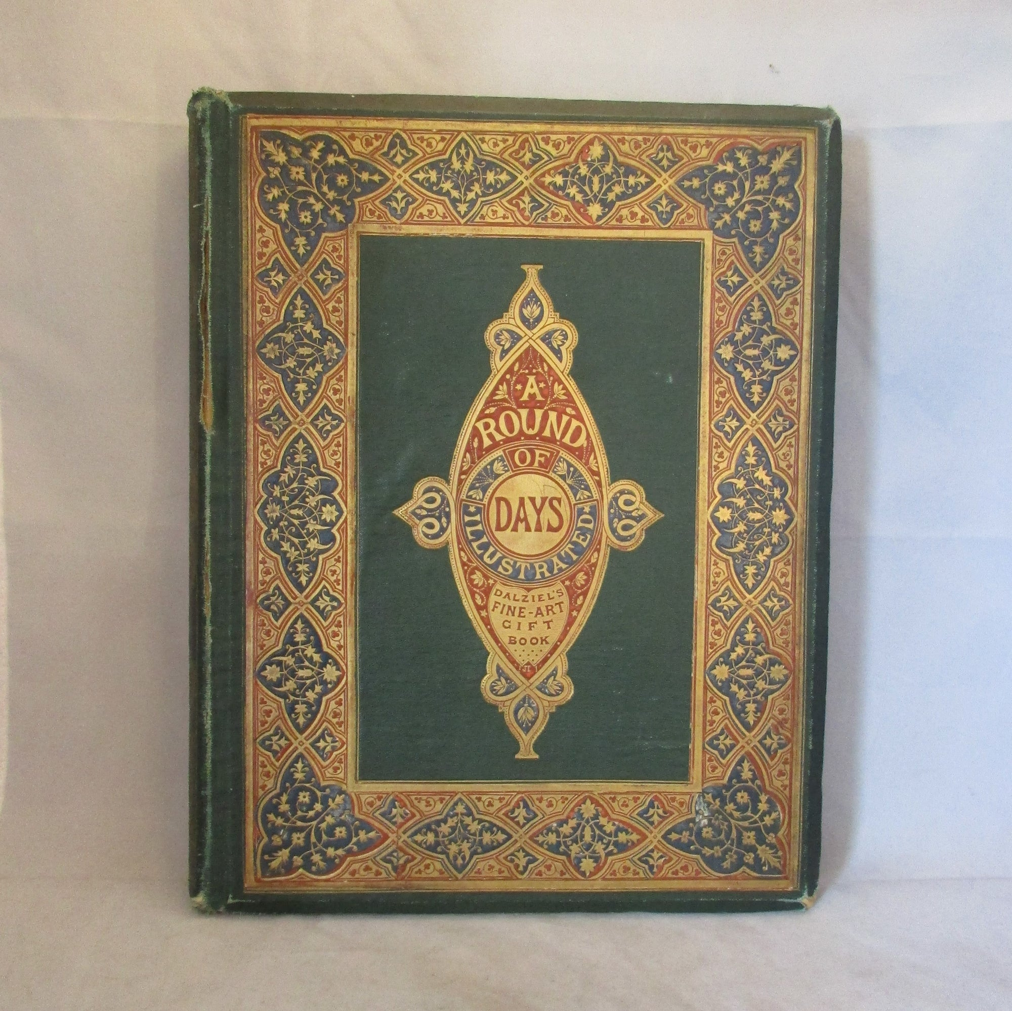 'A Round of Days Illustrated' Book Antique c1867.