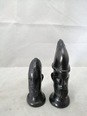 African Soapstone Chess Set Vintage 20th Century.