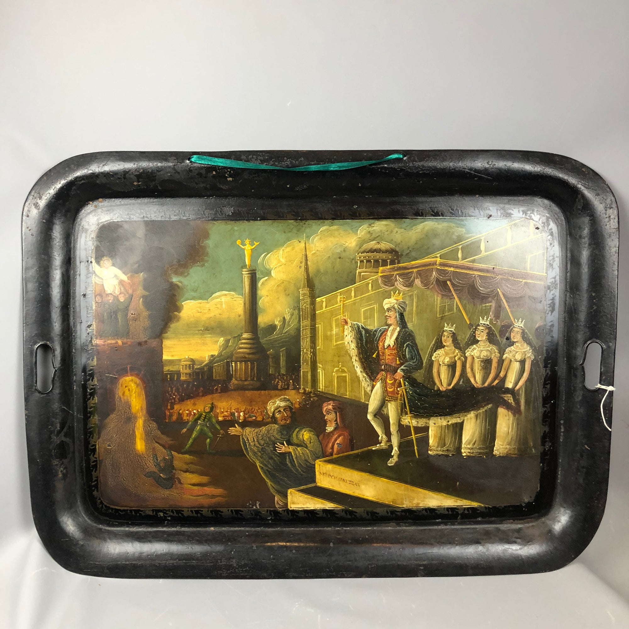American-Hand-Painted-Tole-Tray-Antique-Georgian-c1820