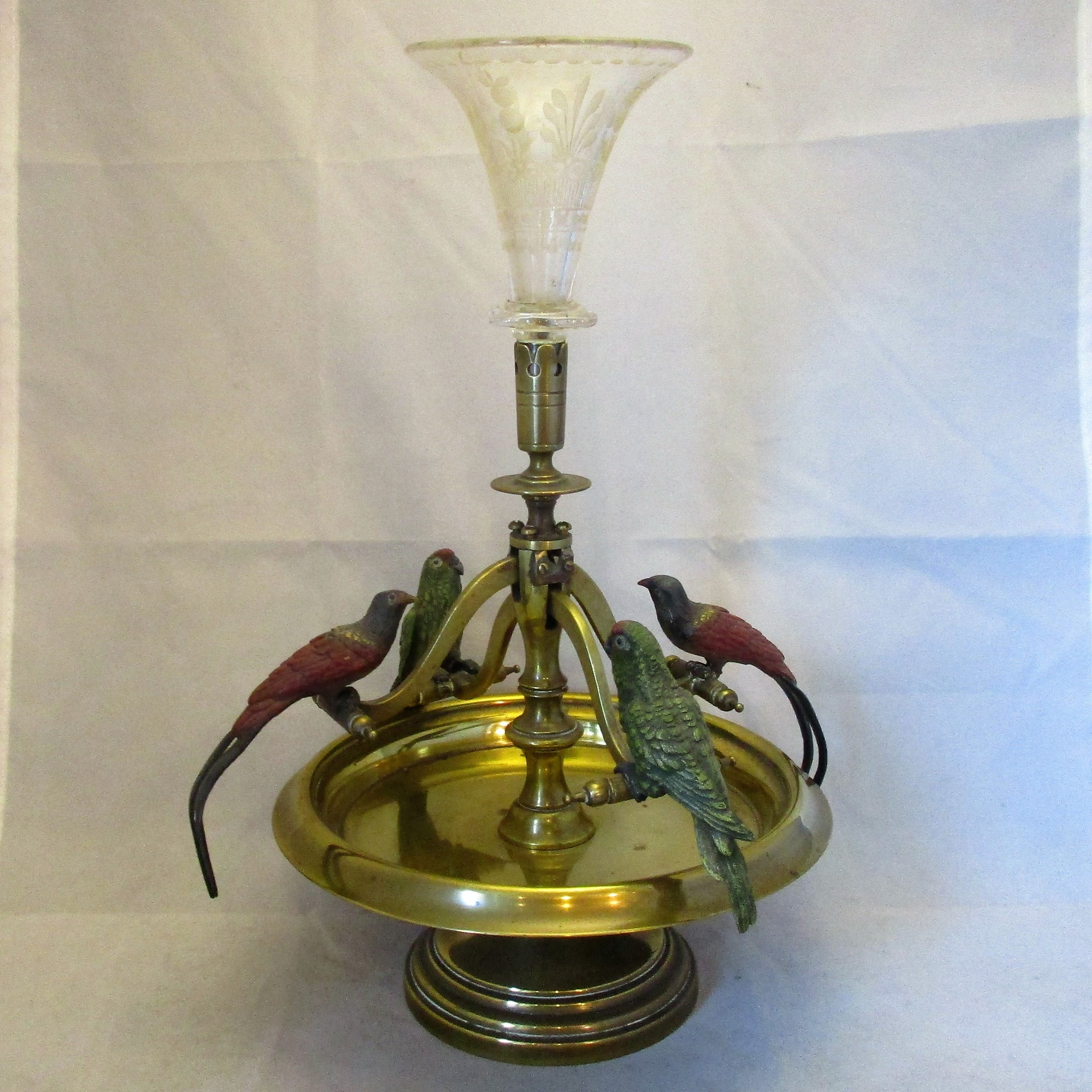 Austrian Cold Painted Bronze Epergne Antique c1890.