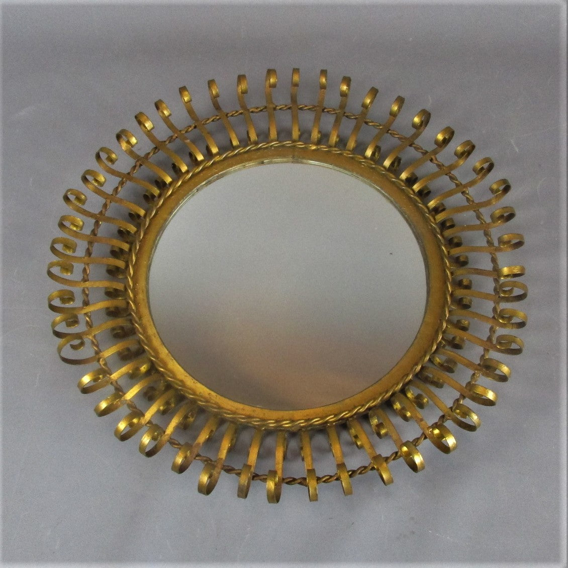 Bent Metal Starburst Mirror Vintage c1960
