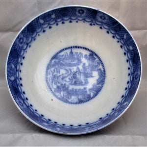 Blue And White Pottery Bowl Antique C.1800