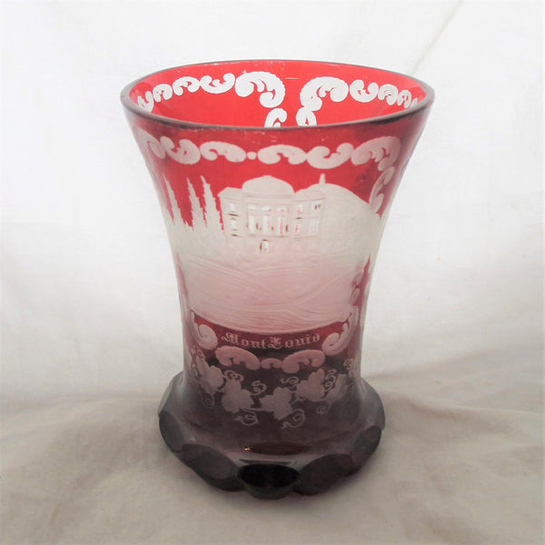 Glass Tagged Quot Vase Quot Top Banana Antiques