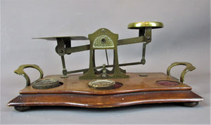 Brass Post Office Scales Antique 19th Century