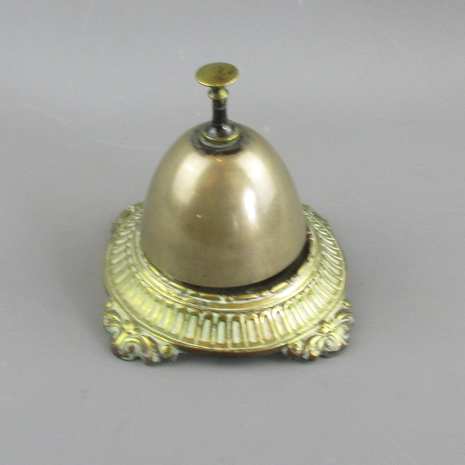 Brass Shop Counter Bell Antique Edwardian c1910