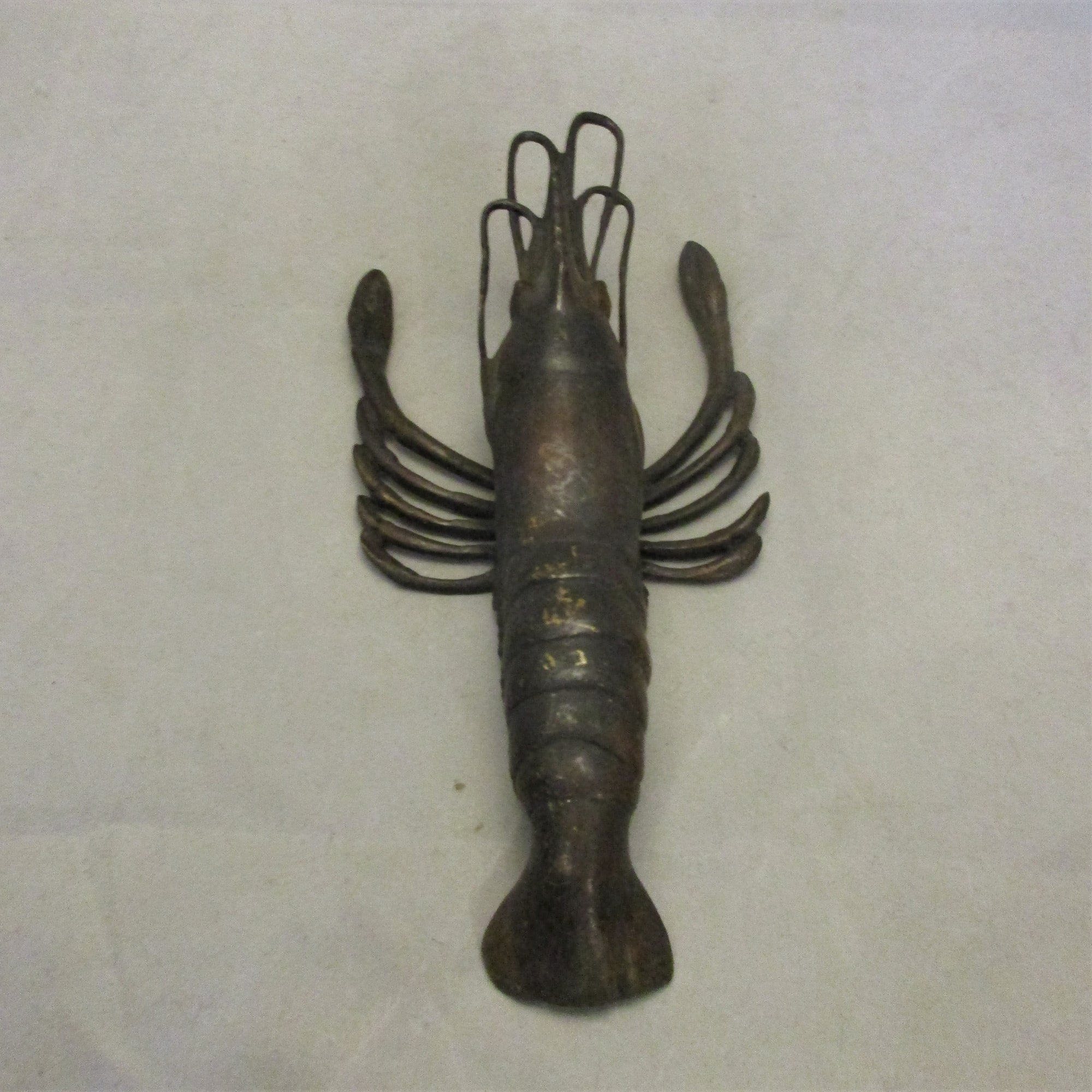 Bronze Statue In The Form Of A Crustacean Antique c.1900.