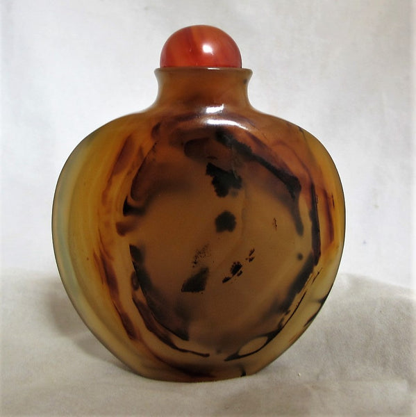 Chinese Carnelian Snuff Bottle Antique 18th Century