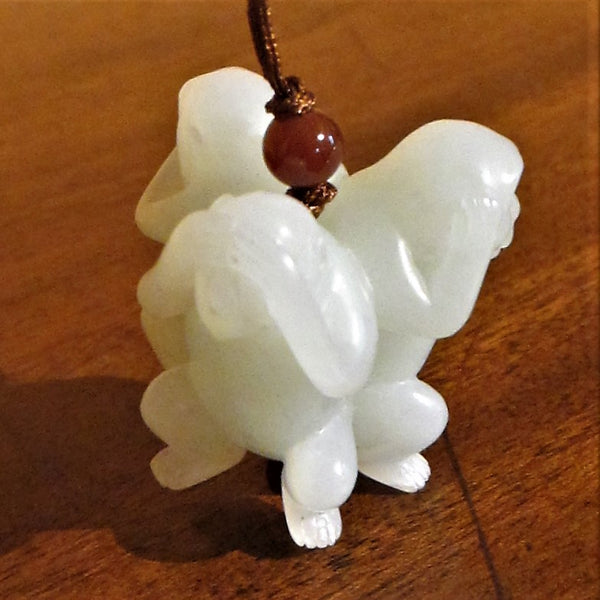 Chinese Carved White Jade 'Three Wise Monkeys'