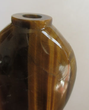 Chinese 19th Century Tiger's Eye Snuff Bottle