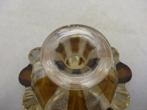 Czech Bohemian Amber Glass Scent Bottle Antique c.1900.