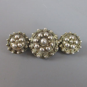 Dutch Zeewse Knop Sterling Silver Brooch c1920